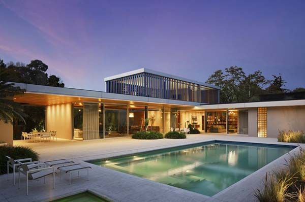 L Shaped Residence In Mexico Showcasing Bright Interior Spaces Pool Houses L Shaped House House Exterior