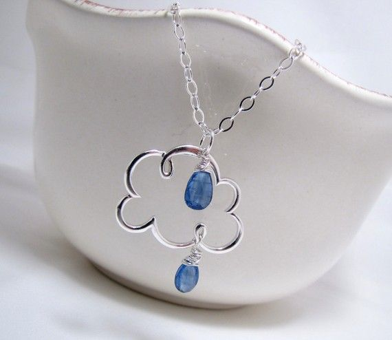 Rain Cloud Necklace Cloudy With A Chance Of Cute