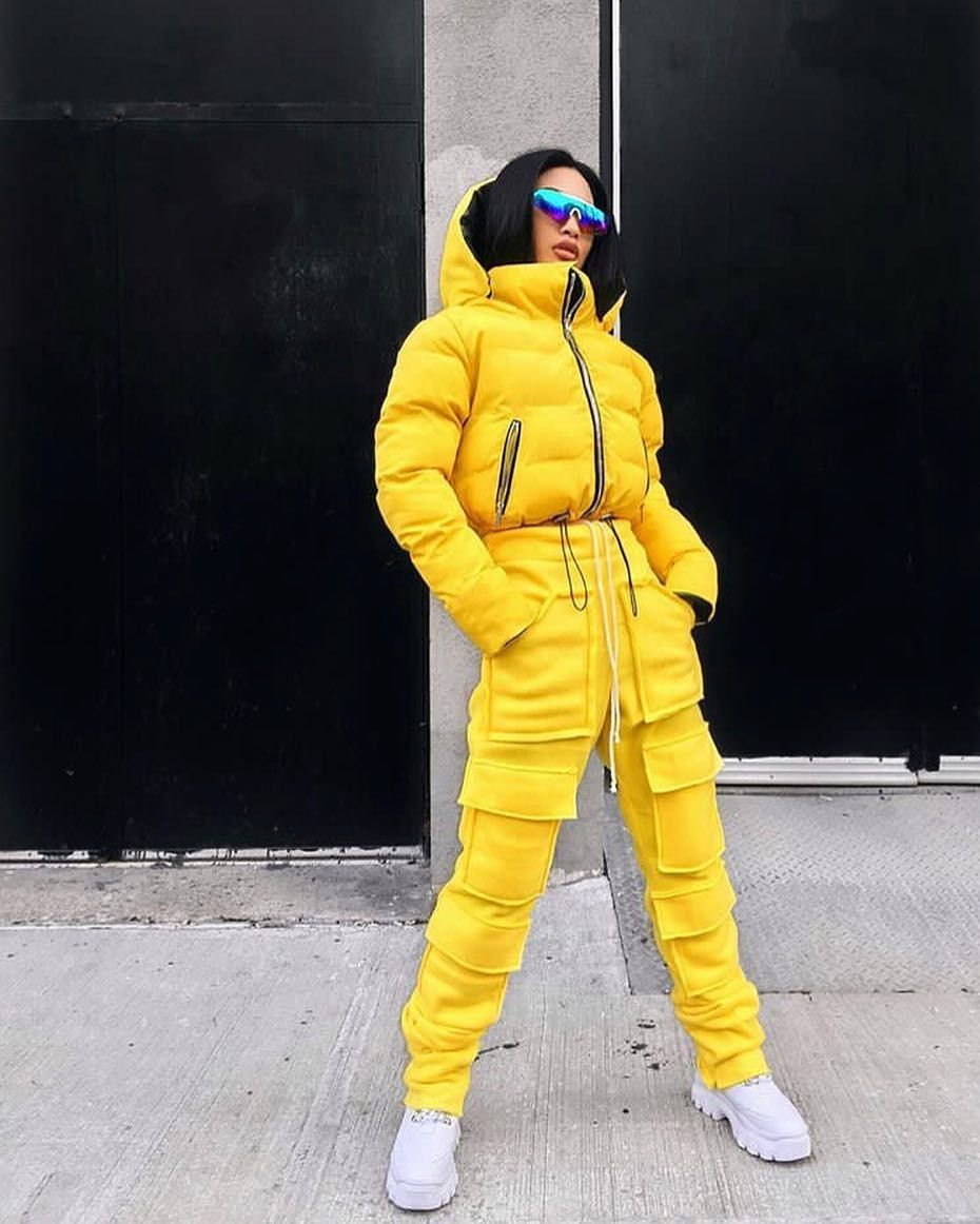 Reversible Puffer Yellow Camo Puffer Jacket Women Winter Outfits Yellow Outfit [ 1162 x 930 Pixel ]
