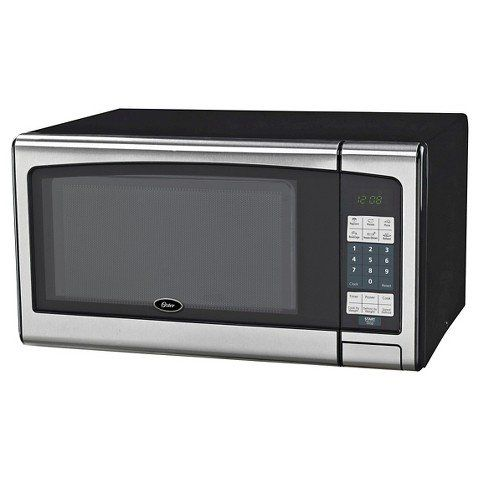 Oster 11 Cu Ft 1000 Watt Digital Microwave Ovenblack Stainless Steel You Can Get More Deta Countertop Microwave Stainless Steel Microwave Digital Microwave