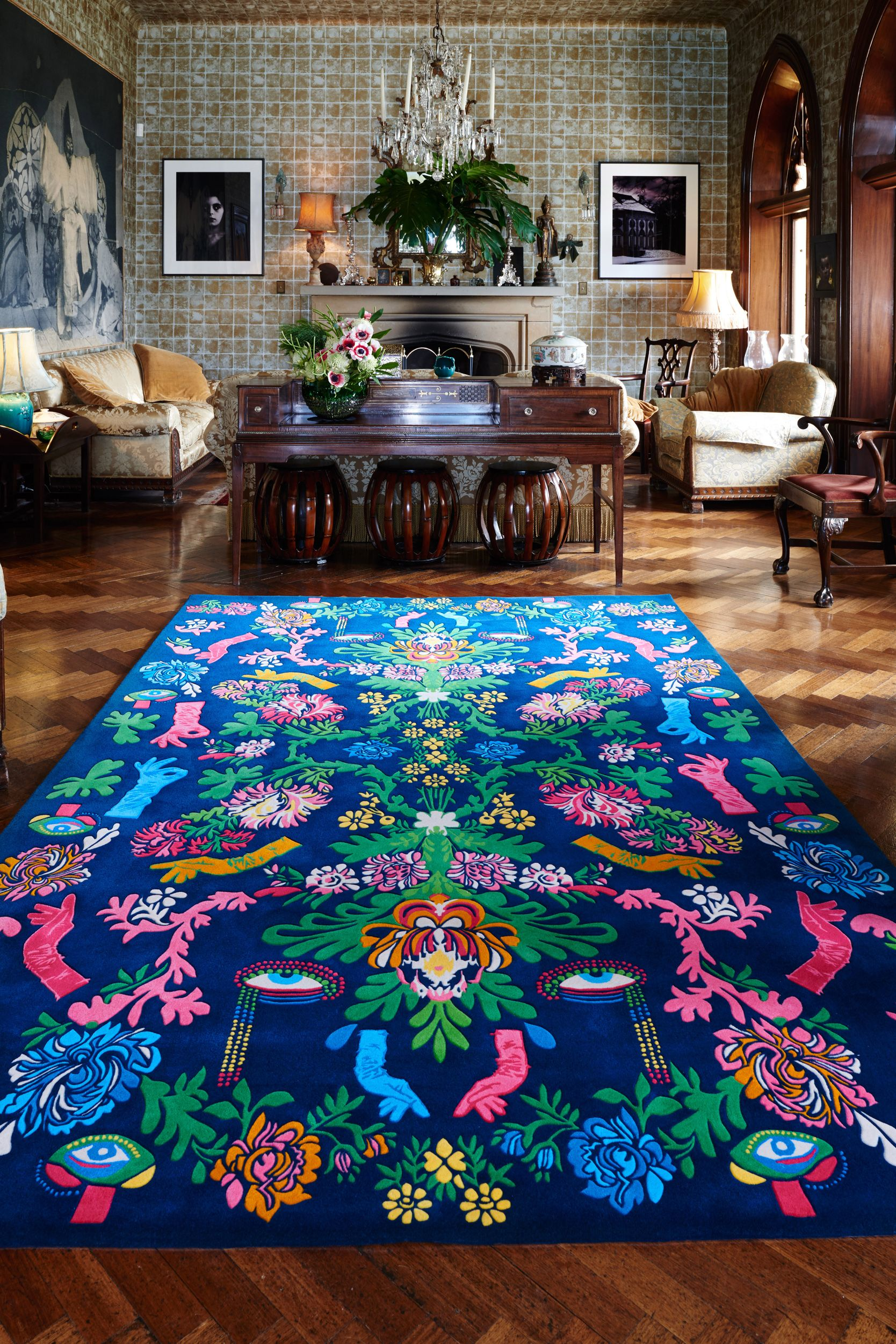 Powder Room Designer Rugs New Romance Was Born Collection Is Fantastical Visionary And Not For The Faint At Heart Fash Boho Eclectic Decor Rugs Rug Design