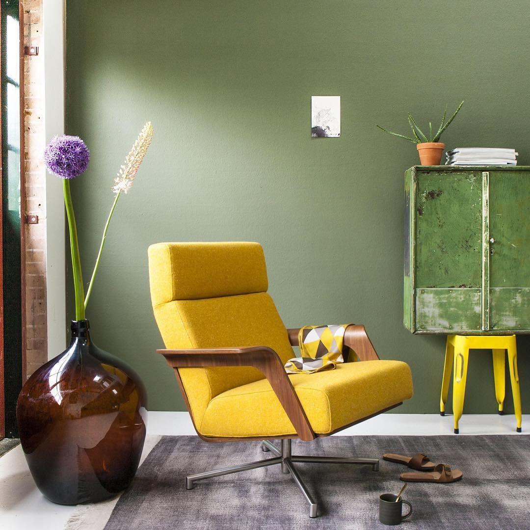 KLEURRECEPT • groen en geel in huis - Muurverf | Pinterest - Geel ...