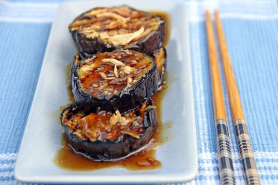 Grilled Eggplants in Garlic Oyster Sauce ¦ Ang Sarap