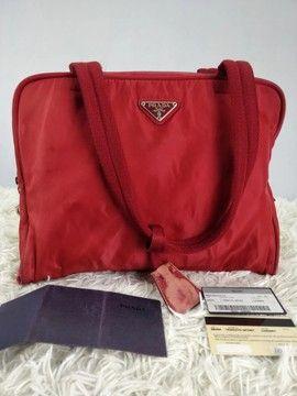 Photo of Prada #960 Prada Handbag Shoulder Bag Tote Bag W Cert Card Size One Size $252
