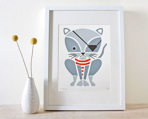 Pirate cat print by Sass & Peril