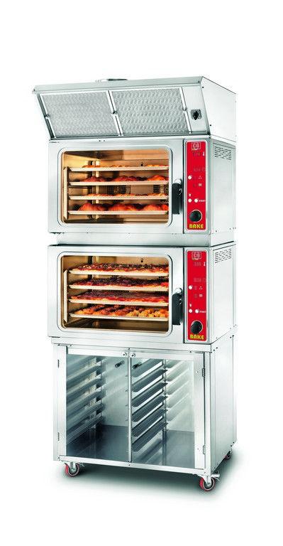 Forno elettrico a convezione GOLOSO 8 BAKE-UM PR9 con mobiletto e cappa www.cb-italy.com