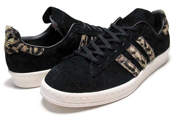 new product cb468 e34b5 adidas Originals for XLARGE CAMPUS 80S BLACK LEOPARD Q34551