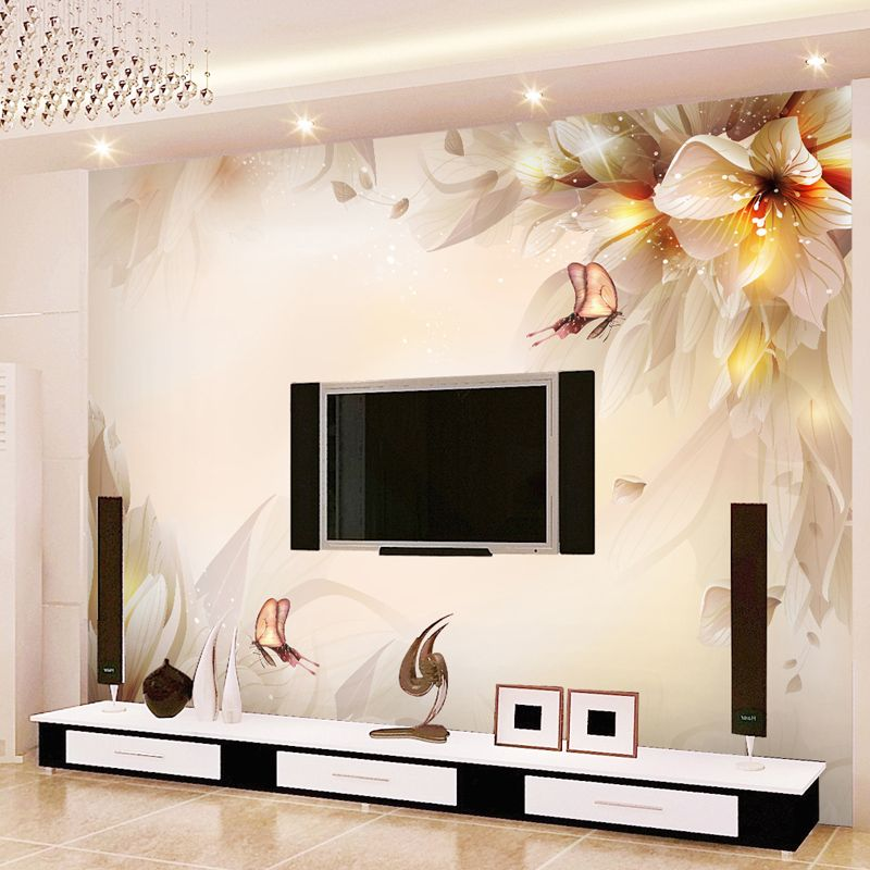 Fantasy Lily Mural Background Wall Wallpaper 3d Wallpaper Mural
