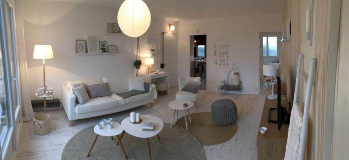 Salon à la déco scandinave : Une déco superbe signée Sophie
