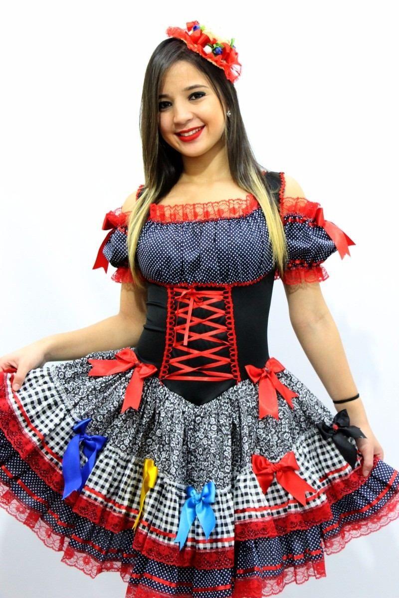 vestido de festa junina junino adulto 38 ao 64 plus size  9914239dcac