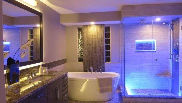 Bathroom Modern Bathroom Interior Light Fixtures Ideas Also Large ...