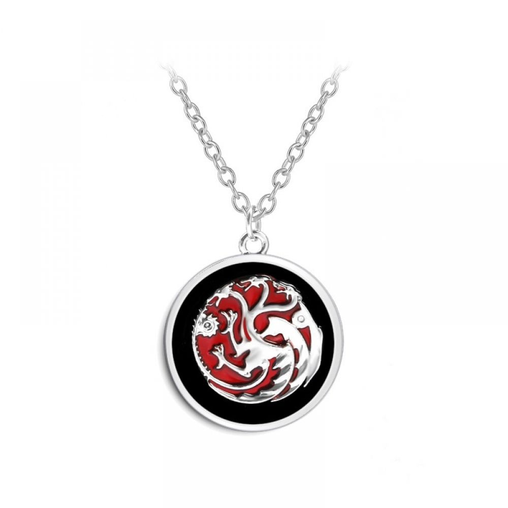 Black red game of throne movie chain necklace