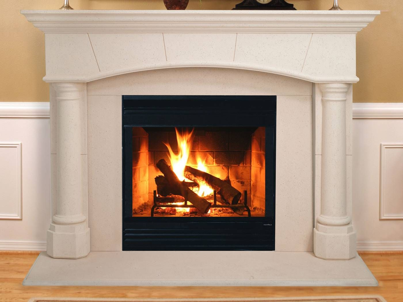 Heat Glo Biltmore Cast Mantel Wood Fireplace Wood Burning
