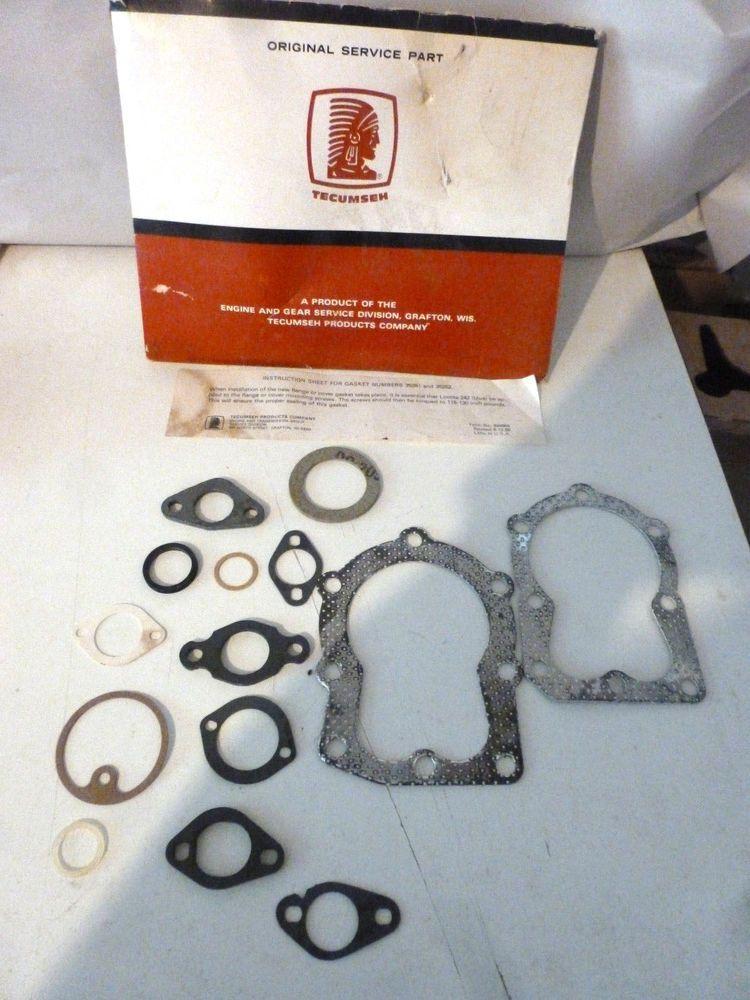 Tecumseh Engine Gasket Kit Part Num 3328c Incomplete Tecumseh Engine Tecumseh Parts