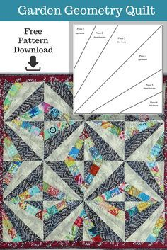 At Such A Manageable Size The Garden Geometry Quilt Is Perfect Project For