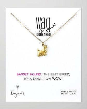 14k Vermeil Basset Hound Dog Necklace at CUSP.