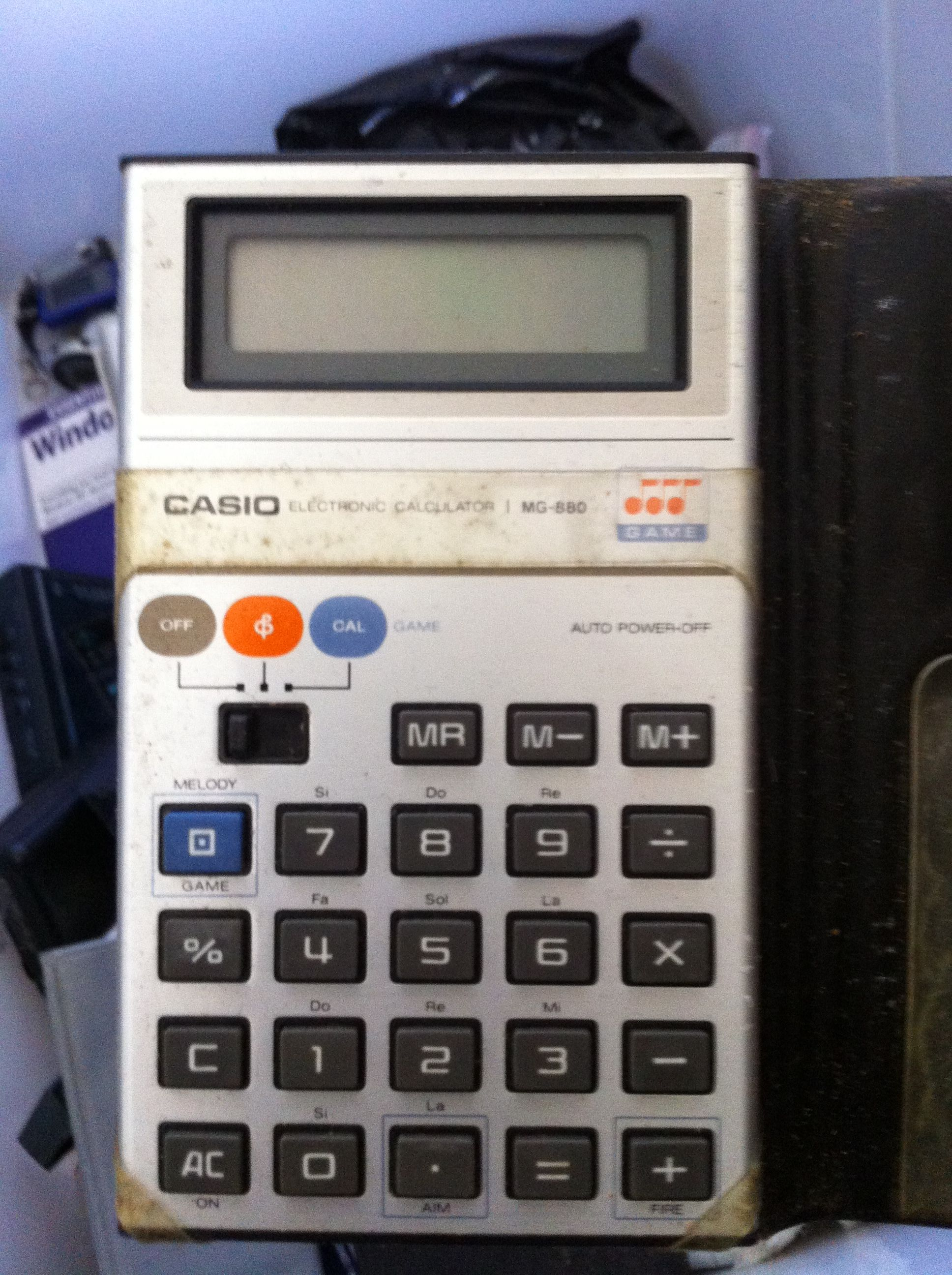 "One of the original Casio ""Spaceys"" game calculators..all"