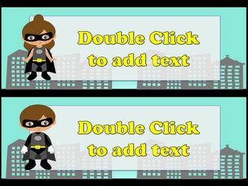 Editable Superhero Desk Name tags **FREEBIE | Super Hero Theme ...