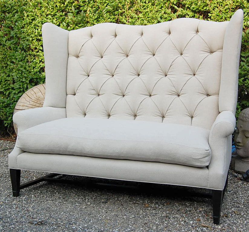 Wingback Loveseat Sofa Furniture Of America Allier Tufted Wingback Loveseat Thesofa