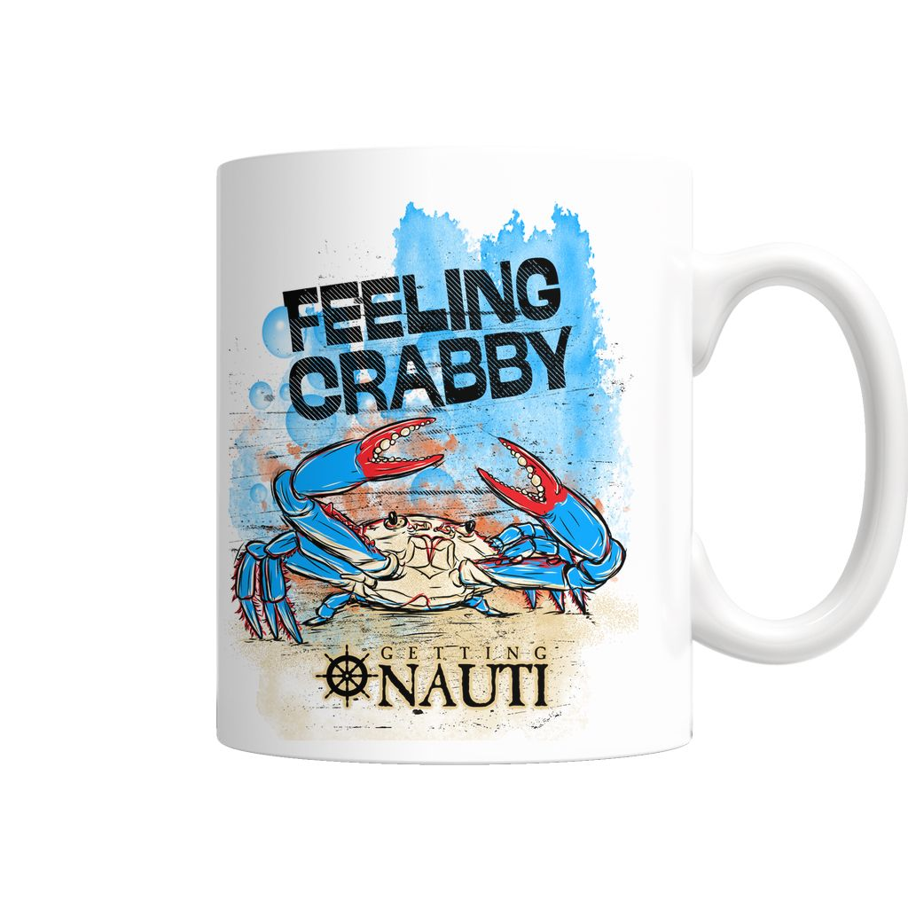 I admit most mornings I'm Feeling Crabby before my #coffee  Lucky for me, I have this cute #feelingcrabby # coffeemug to help cheer me up!  Available exclusively at www.gettingnauti.com