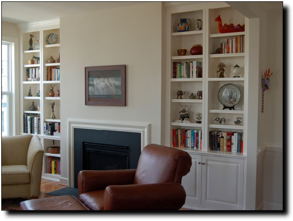 Built In Bookcase Around Fireplace Plans Bookshelves With 4 Cool Ideas For