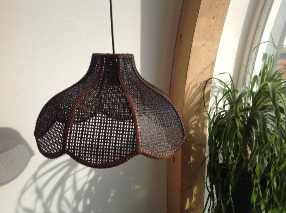 Wicker Rattan Pendant Hanging Lamp Retro Pendant Rustic