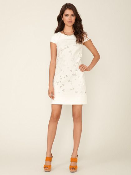 Solid Ponte T-Body Floral Embroidered Dress by Laundry by Shelli Segal on Gilt.com