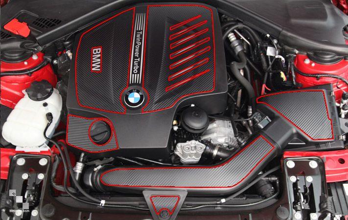 Bmw 335i Carbon Fiber Engine Cover 4 Bmw Graphics Carbon Fiber