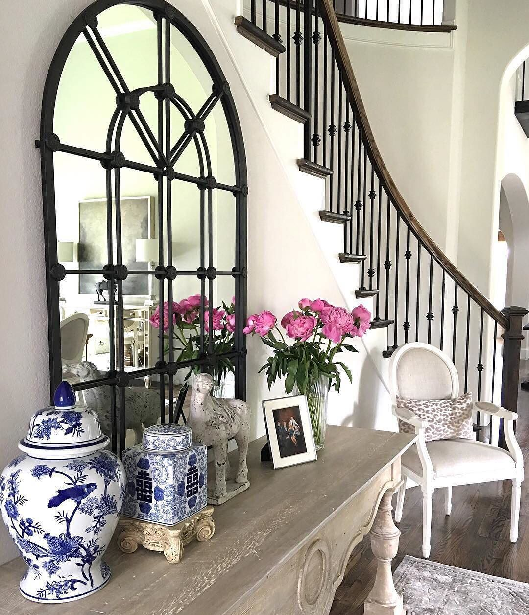 Discount Home Decor Sites: Our Montclair Mirror Is The Backdrop To A Beautifully