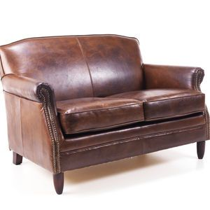 Leather Chesterfield Two Seater Sofa Furniture