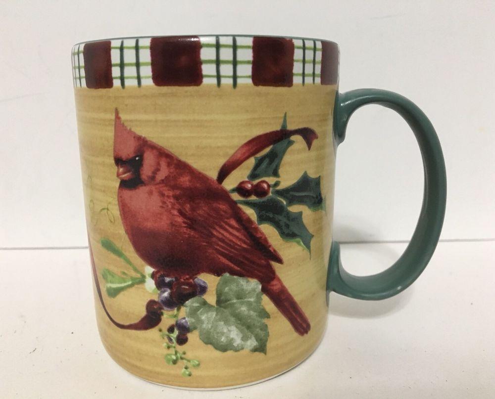 Lenox winter greeting everyday tartan cardinal coffee mug cup euc lenox winter greeting everyday tartan cardinal coffee mug cup euc m4hsunfo