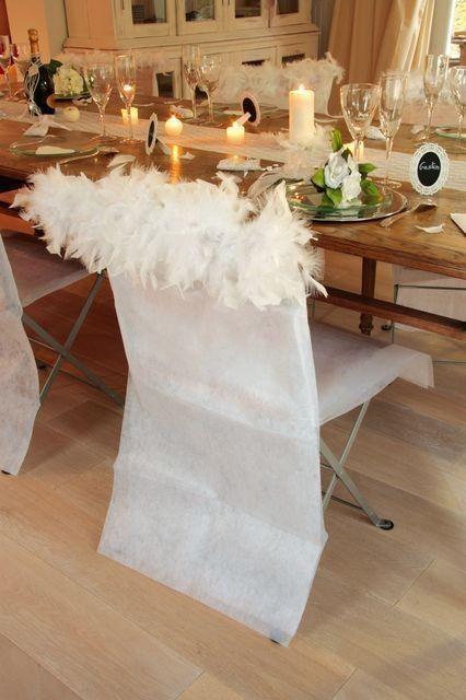 Housses de chaise plumes housses chaises mariage prix discount d co de table - Prix housse chaise mariage ...