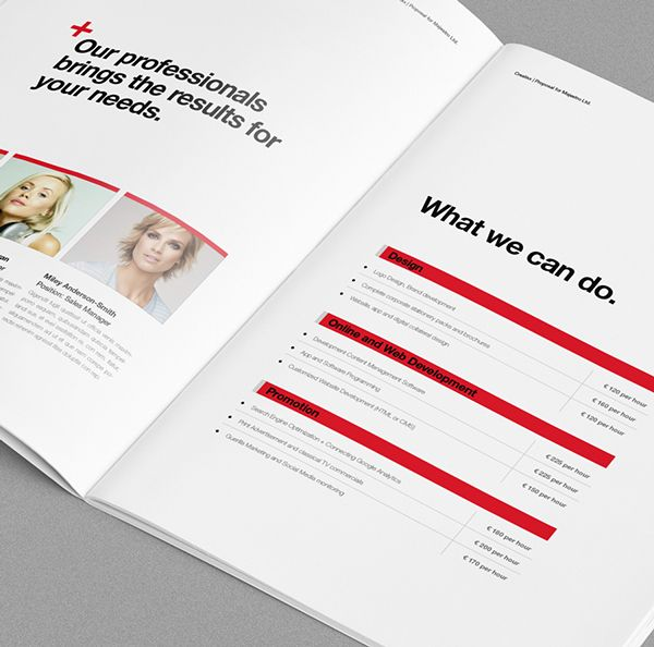 Proposal Template Suisse Design With Invoice By Egotype Via