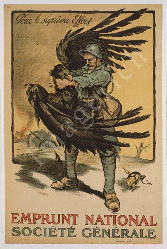 National Loan Société Générale Vintage French WW1 Propaganda Poster