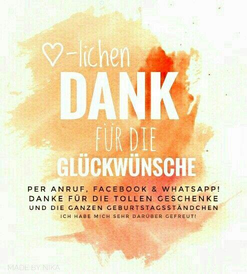 Frei Nutzbar Fur Facebook Und Whatsapp Danke Fur Gluckwunsche Zum Geburtstag