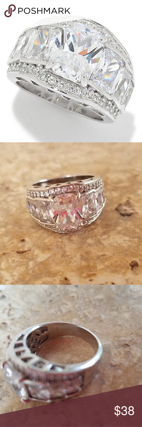 Paula Deen Sterling Silver Bling Ring Size 9 Great Condition