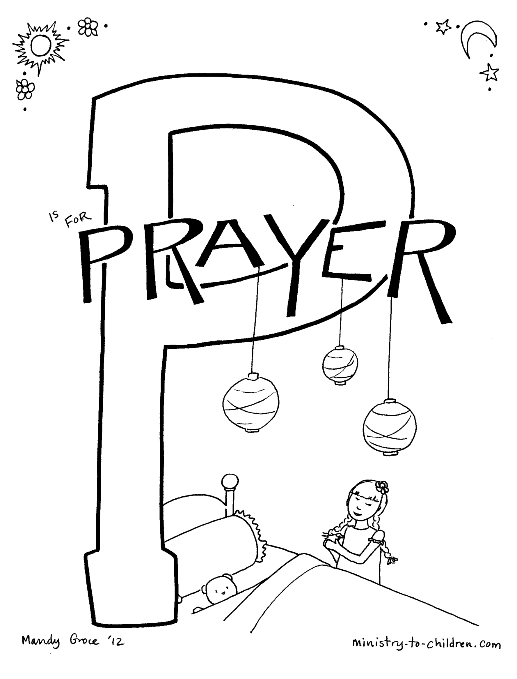 prayer coloring pages preschool photo9