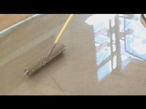 Concrete Floor Leveling Tools How To Works With A Spike Roller