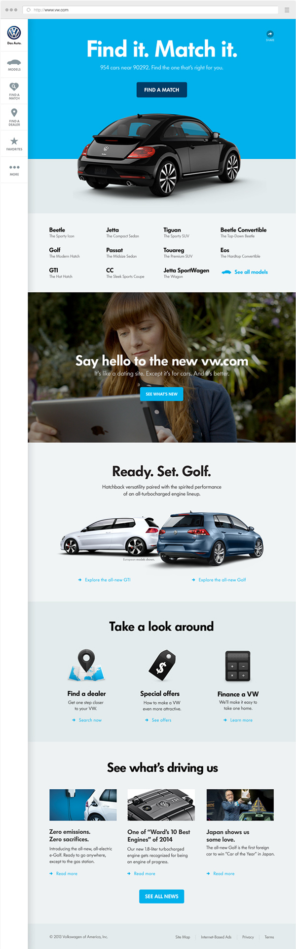 VW.com on Behance