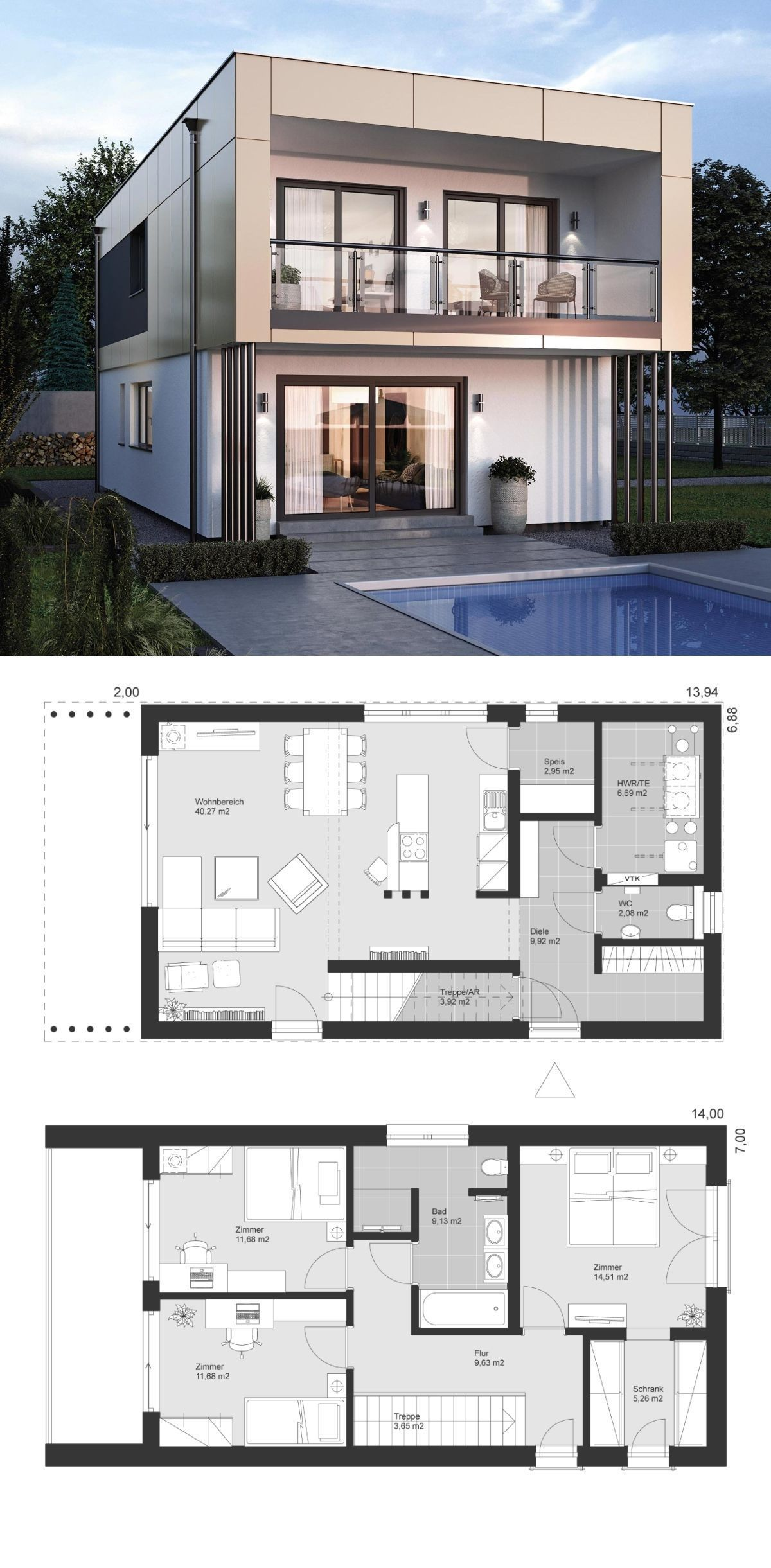 20 Best Of Minimalist House Designs [Simple, Unique, And Modern] | Planos De Casas Mediterráneas, Planos De Arquitectura, Diseño Casas Pequeñas