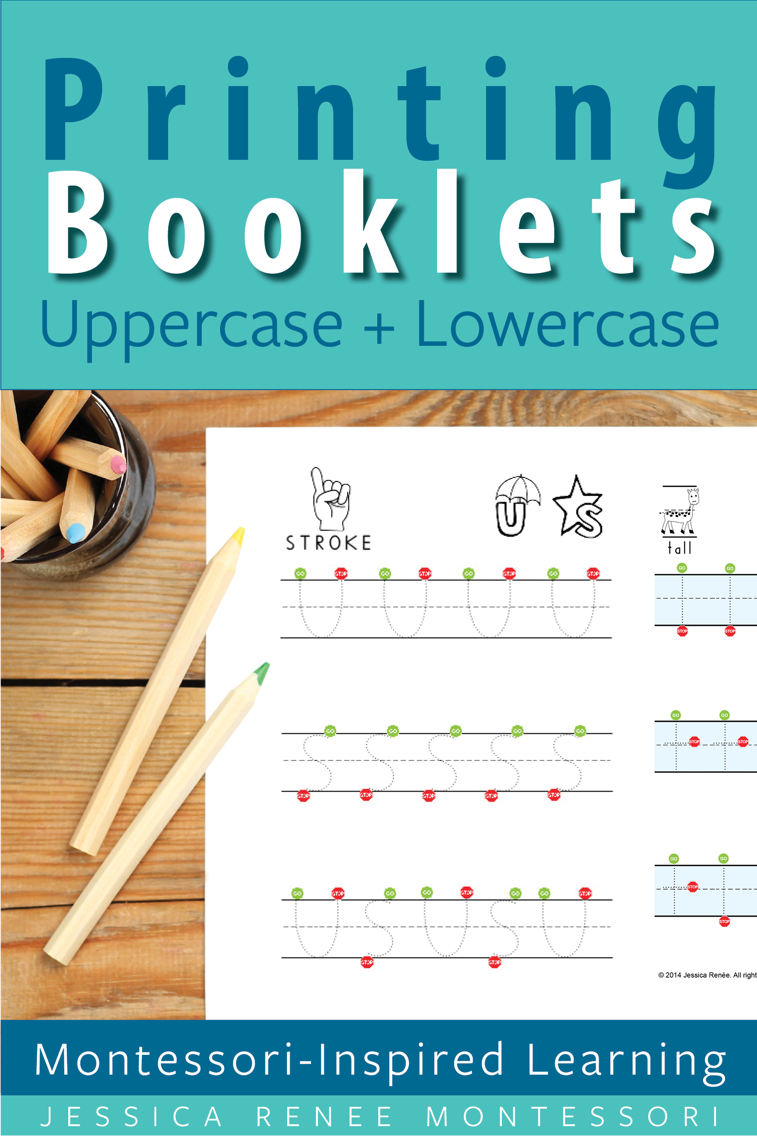 Printing Booklets For Uppercase And Lowercase Letter