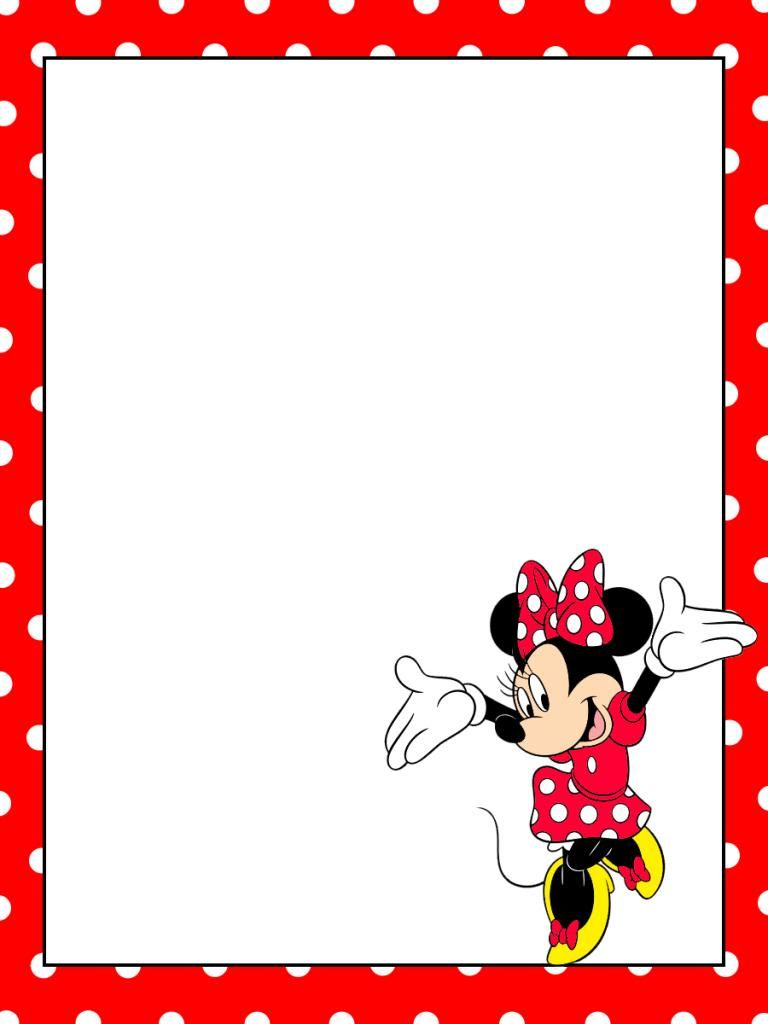 Journal Card Minnie Mouse Tippytoes Dotty background