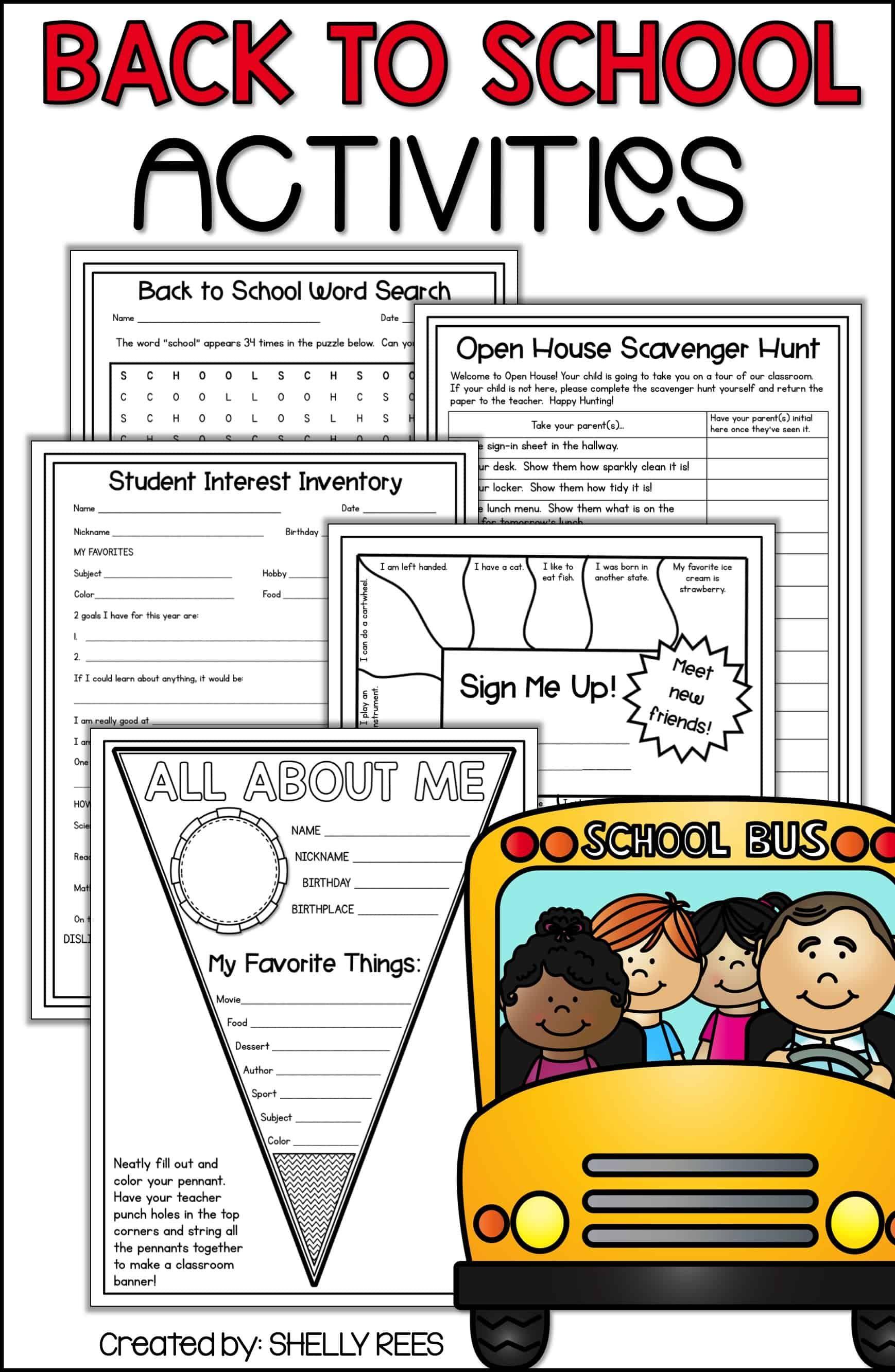 Back to School Activities for Elementary Teachers - Appletastic Learning    Back to school activities [ 2666 x 1738 Pixel ]