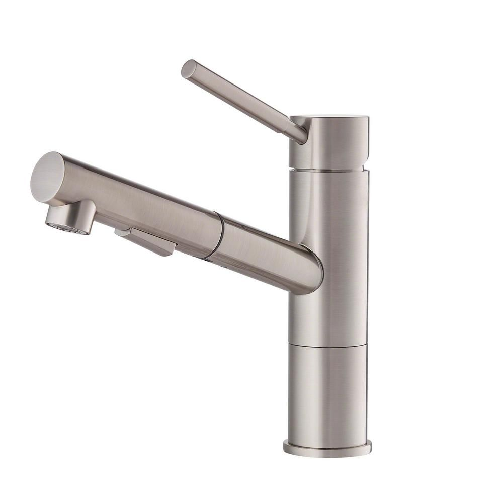Beau KRAUS Geo Axis Single Handle Pull Out Sprayer Kitchen Faucet In Stainless  Steel