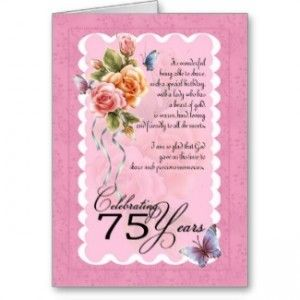75th Birthday Card For Women