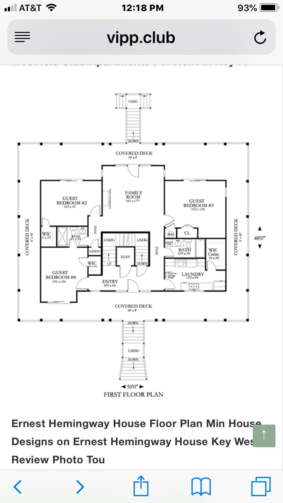 Pin By Tracy Koeninger Henry On Hemingway House Key West New House Plans Hemingway House House Floor Plans