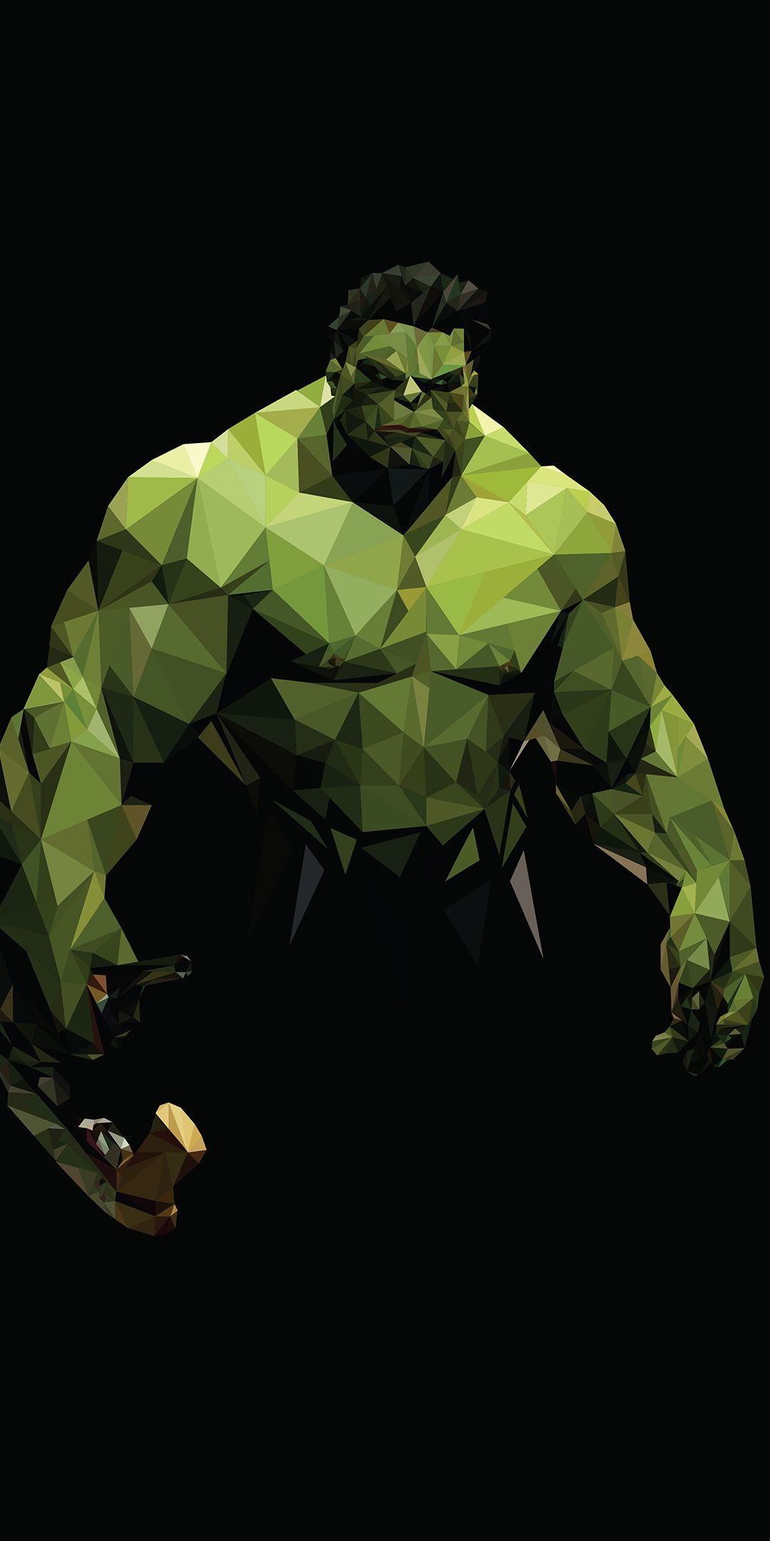 Hulk Superhero Low Poly Art 1080x2160 Wallpaper Marvel Artwork Hulk Art Hulk Marvel