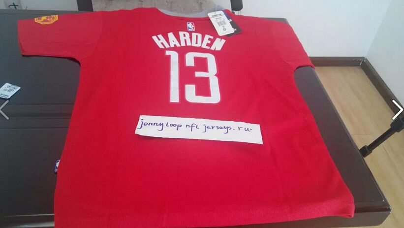 9e883f99d ... czech mens houston rockets james harden adidas red chinese new year  name number t shirt 300a0