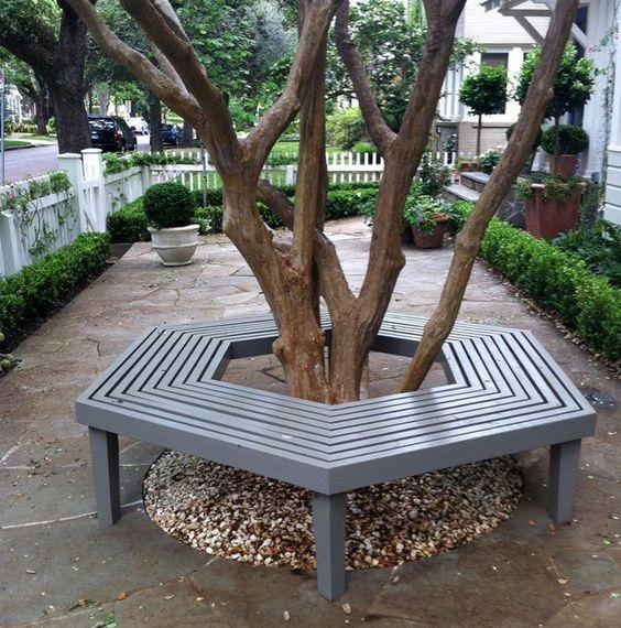 Bench Around A Tree The Owner Builder Network Landscaping Around House Diy Garden Furniture Tree Seat