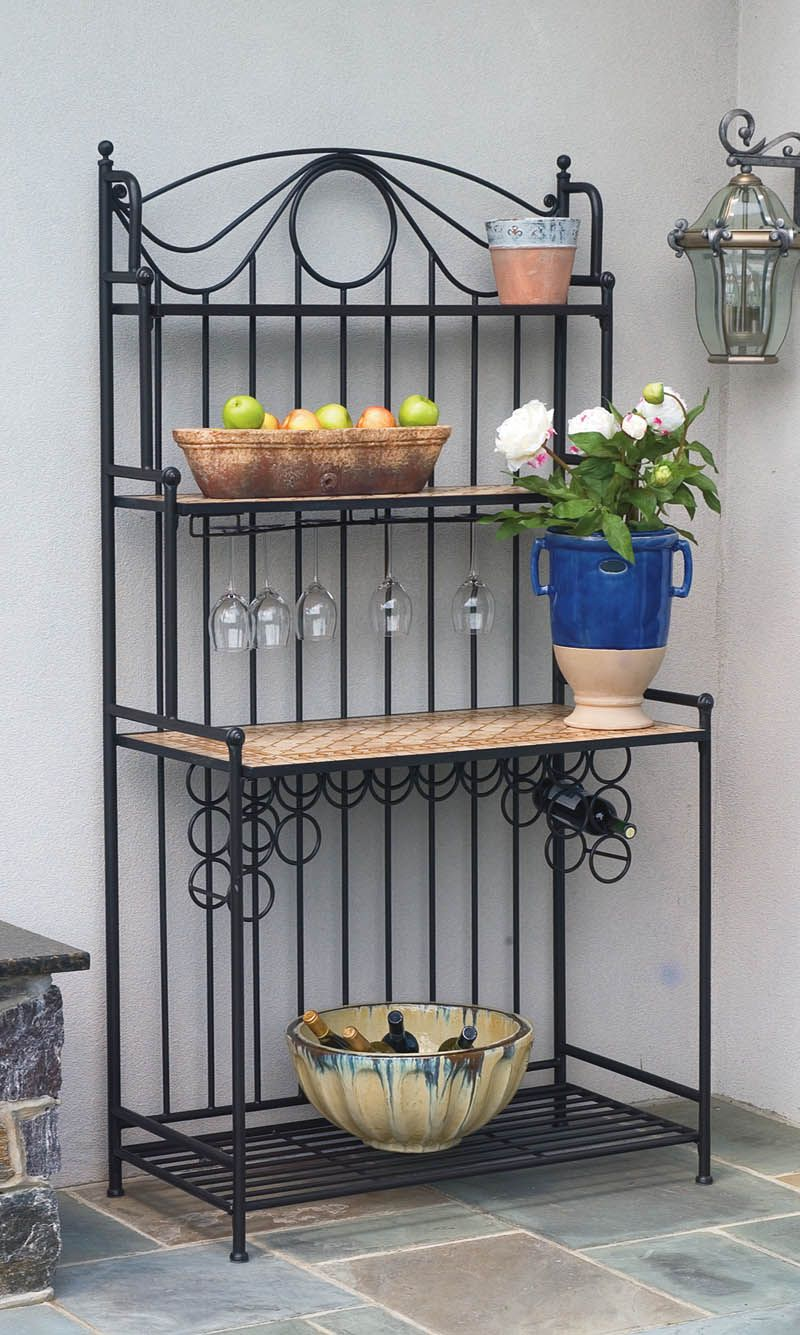 Alfresco Home Baker S Rack With Images Outdoor Bakers Rack